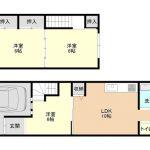 田島4丁目連棟貸家 「南巽」駅 徒歩15分 室内フルリノベーション物件